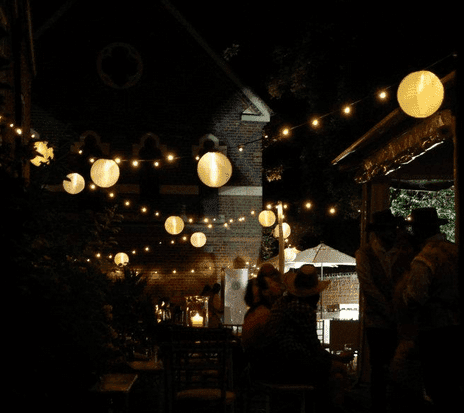 Lanterns and Fairy Lights look magical for weddings and parties.