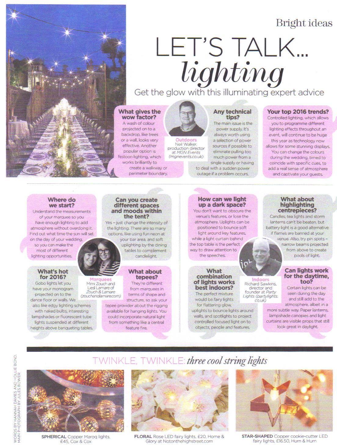 Lets talk lighting article April 16