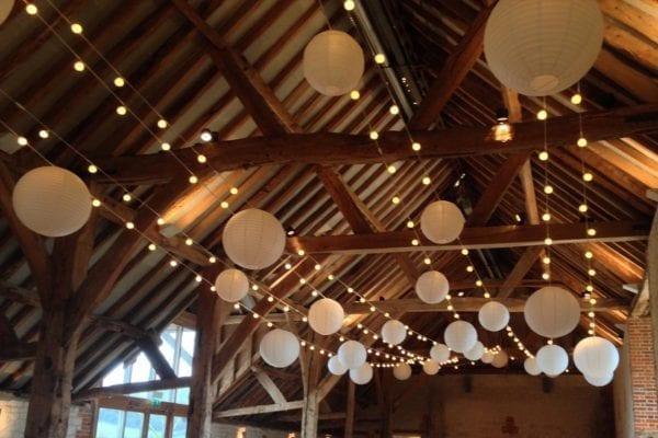 Festoon and Lanterns at Bury Court Barn Surrey