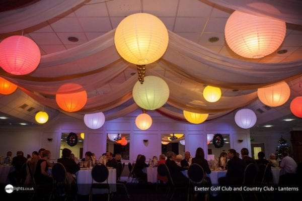 Colourful lanterns at Exeter Golf and Country Culb