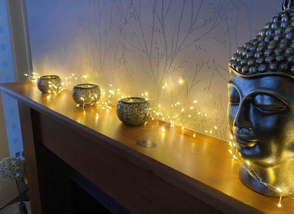 Fairy Lights Mantlepiece
