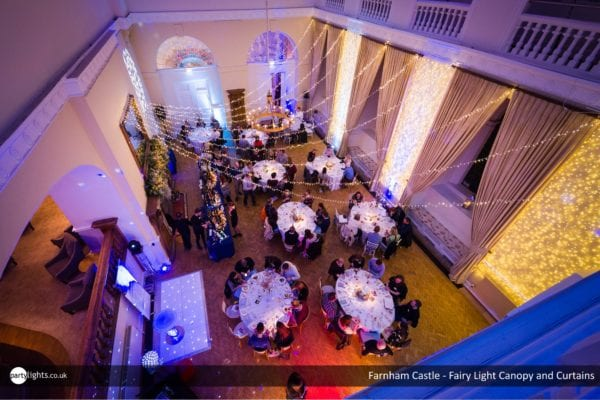 Light Canopy and Fairy Light Curtains at Farnham Castle