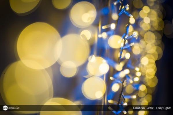 Wedding fairy lights - Farnham Castle