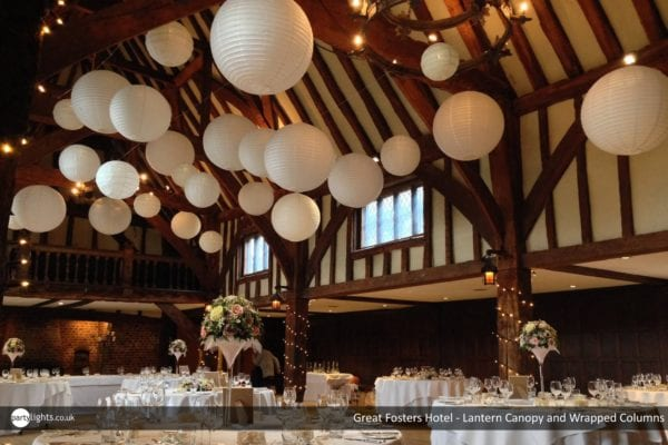 Lantern Canopy at Great Foster Hotel