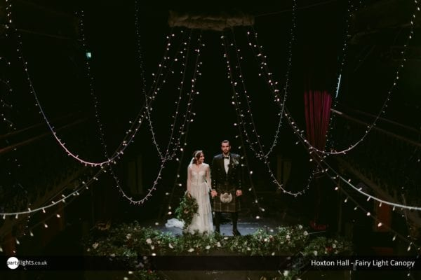 Fairy Light Canopy at Hoxton Hall