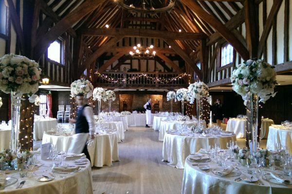 Wedding table and lighting set up