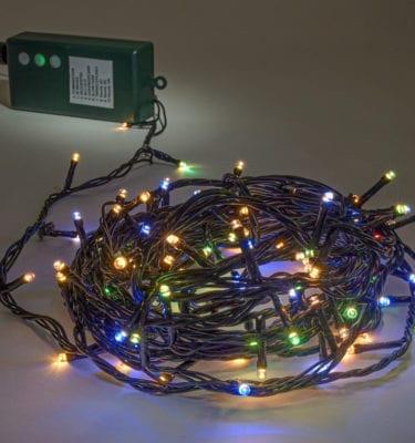 Led fairy lights battery multi coloured