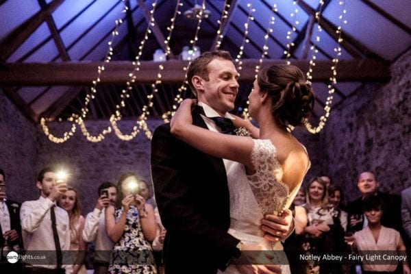 Notely Abbey - Fairy light canopy - first dance