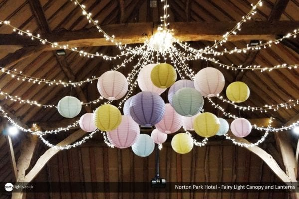 Notron Park Hotel - Fairy light canopy and lanterns