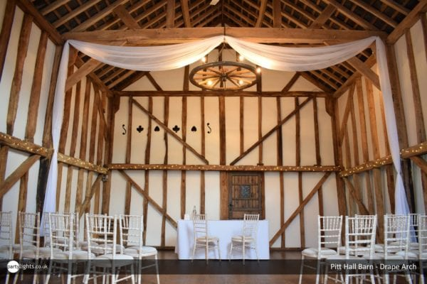 Drape Arch at Pitt Hall Barn