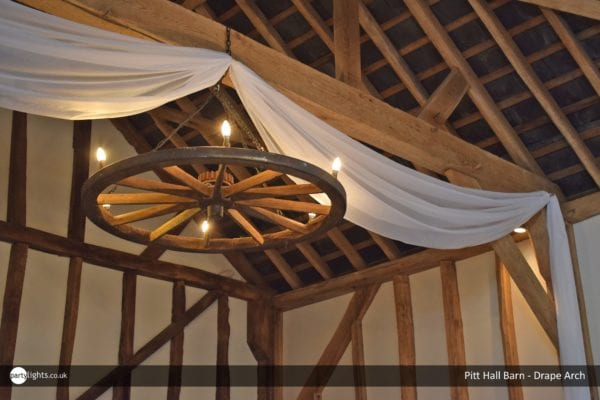 Drape arch at Pitt Hall Barn