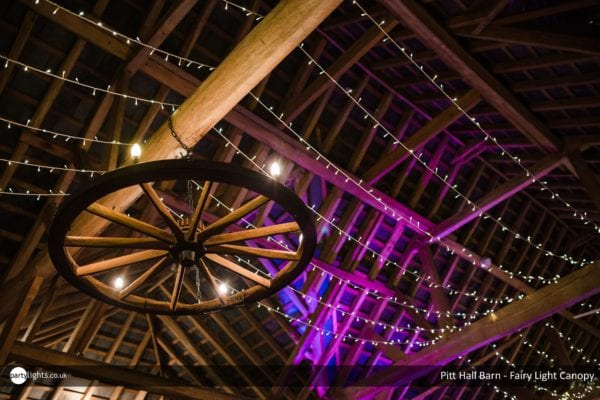 Fairy Light canopy at Pitt Hall Barn