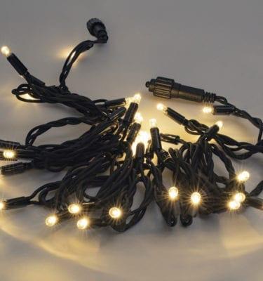 Premium Led fairy lights dark cable warm white