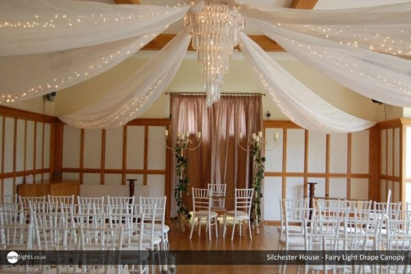 Silchester House - fairy light drape canopy