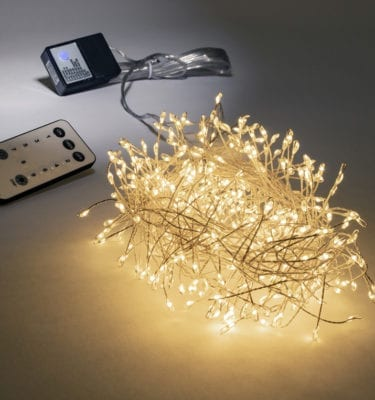 Silver wire cluster lights
