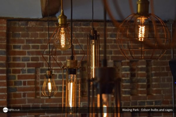 Wasing Park - Edison Bulbs and cages