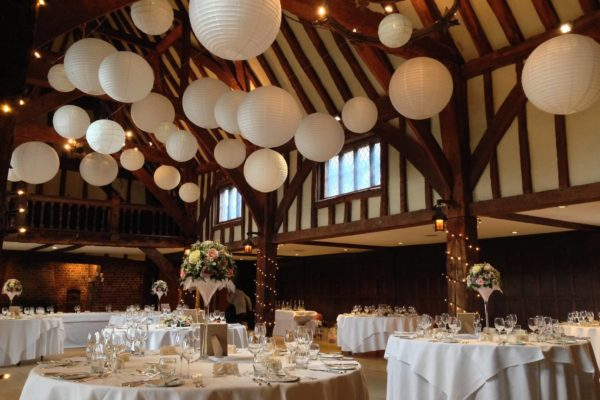 fairy lights and paper lantern canopy great fosters