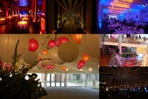 party lights collage