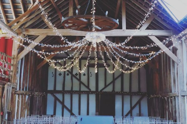 Pitt Hall Barn Fairy Light Canopy