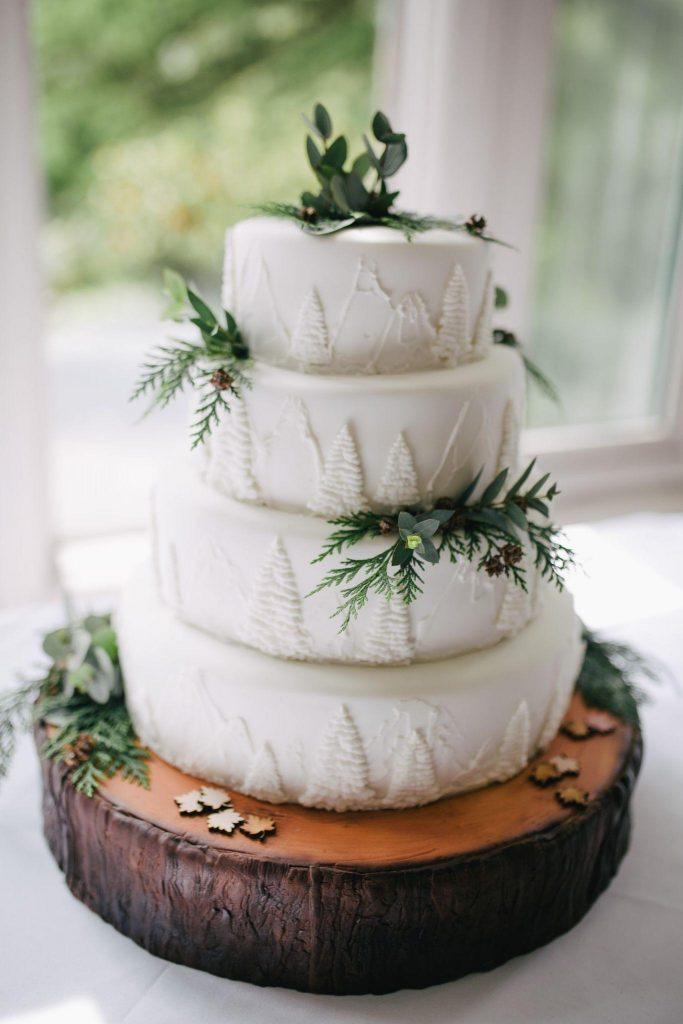 Christmass wedding cake